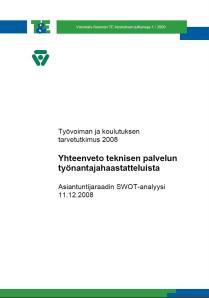 TKTT tekninen, VS ELY 1,2009