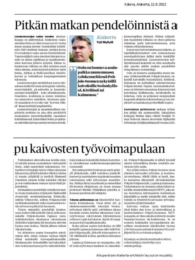 Kaleva, Alakerta 11.8.2012