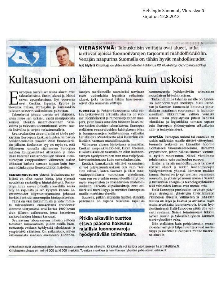 HS Vieraskynä 12.8.2012