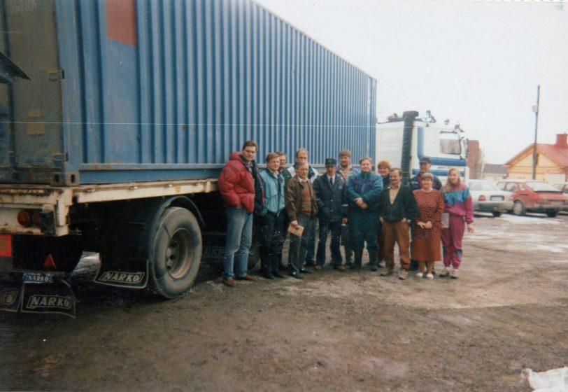 Logistiikka Barentsin alueella kurssin yrittäjiä. Varsinaisia Valkoisen Meren messujen ideoijia ja totettaja. Kun murusia yhteiskunnan rahaa tulee myös yrittäjille, syntyy tulosta.