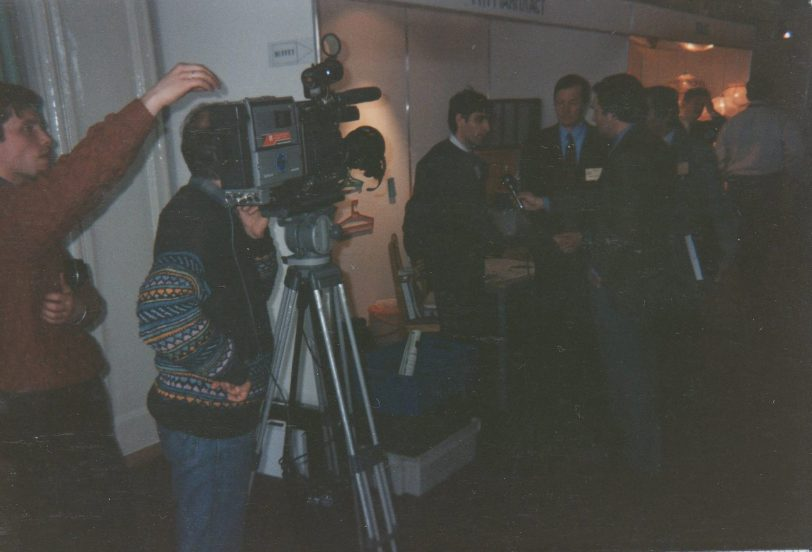 Valkoisen Meren messut 96, järjestäjän edustaja Oleg Eprintsev median haastattelussa