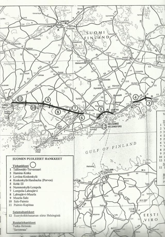 E18-kansainvälinen kehittämisprojekti, Matkalla Pietariin. Hankkeet kokosi ja kuvan rakensi käsipelillä Yrjö Myllylä.