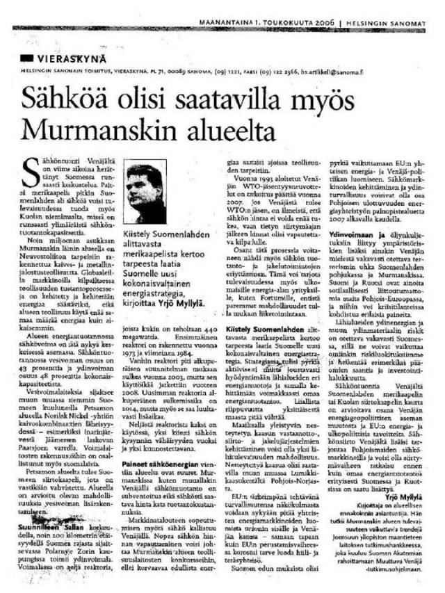 HS Vieraskynä 010506