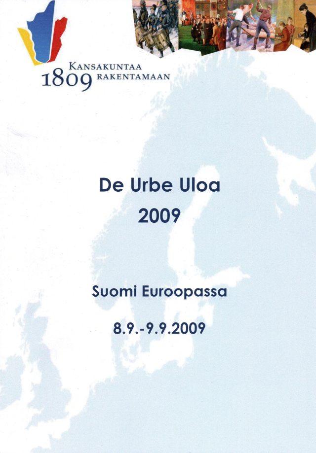 De Urbe Uloa, Suomi Euroopassa. Kansakuntaa rakentamaan.