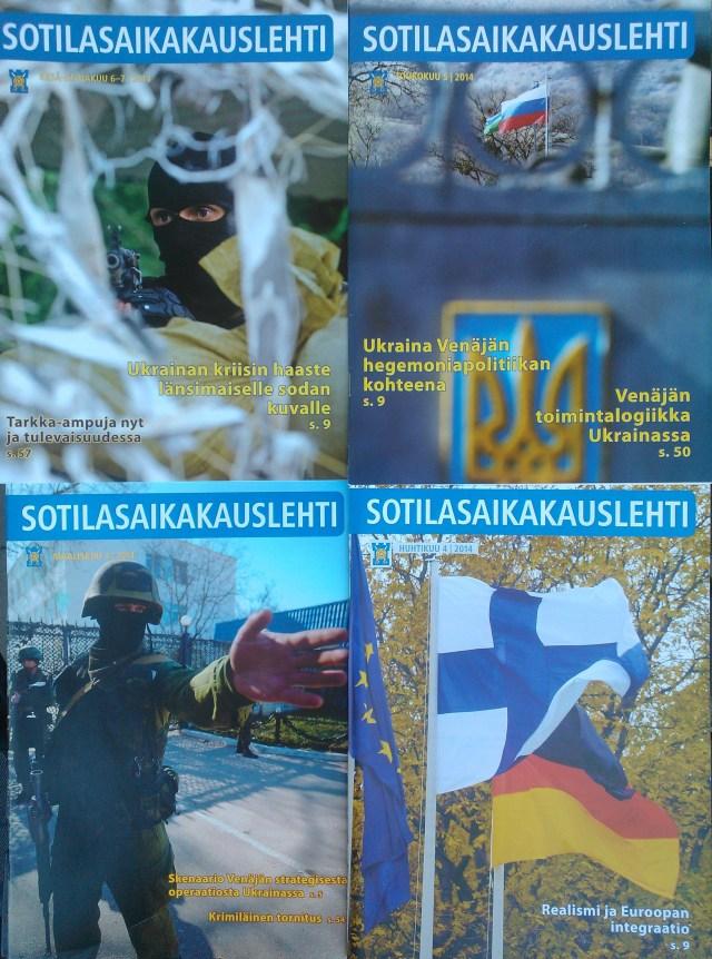 Upseerit ovat vannoneet valan, että puolustavat Suomea ja ovat uskollisia yliupäällikölleen presidentille. Heitä on kielletty osallistumista politiikkaan. Heitä kannattaa kuitenkin kuulla, koska heillä on ehkä parempi tilannekuva, kuin muilla. Maalis-heinäkuun Sotilasaikakausilehdet on tullut luettu Ukraina-artikkelien osalta osin jopa kahteen kertaan kesän aikana.