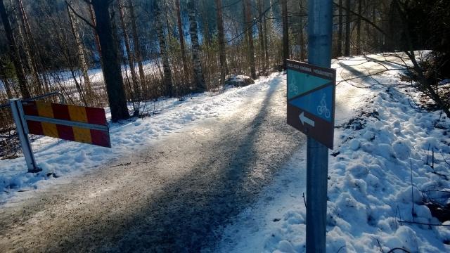 Salo-Strömma polkupyöräilyreitti.